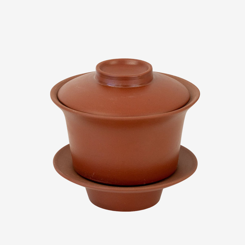 Tea Cup w/ Saucer and Lid Terracotta