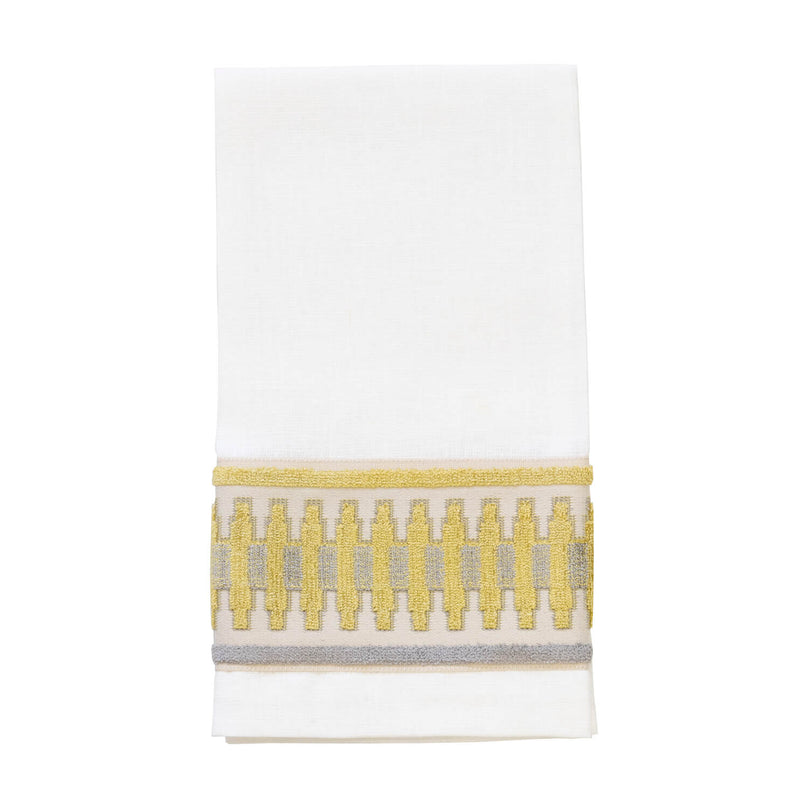 Trion Guest Towel - Ivory/Gold