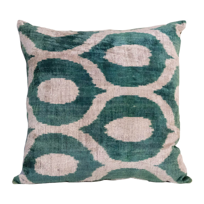 Velvet Teal & Cream Kiss Decorative Pillow