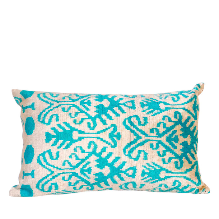 velvet teal complex lumbar pillow