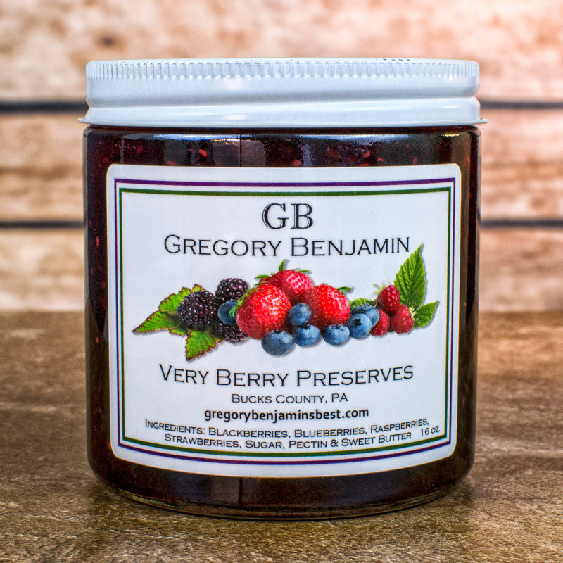 Gregory Benjamin Preserves - Very Berry 9 ox.