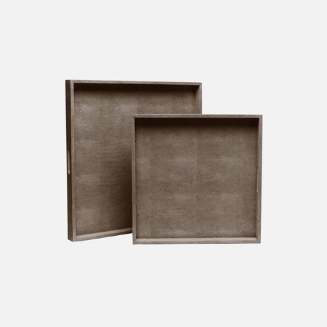 XL Shagreen Tray - Set/2