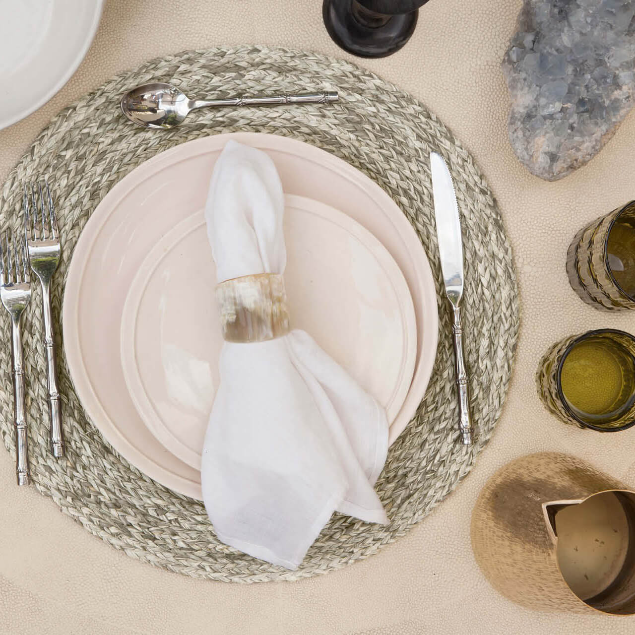 Zoey Mixed Gray Placemat, Pack/4