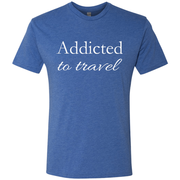 Addicted to Travel Men's T-Shirt - The Art Of Travel Store: Travel Accessories and Travel T-Shirts