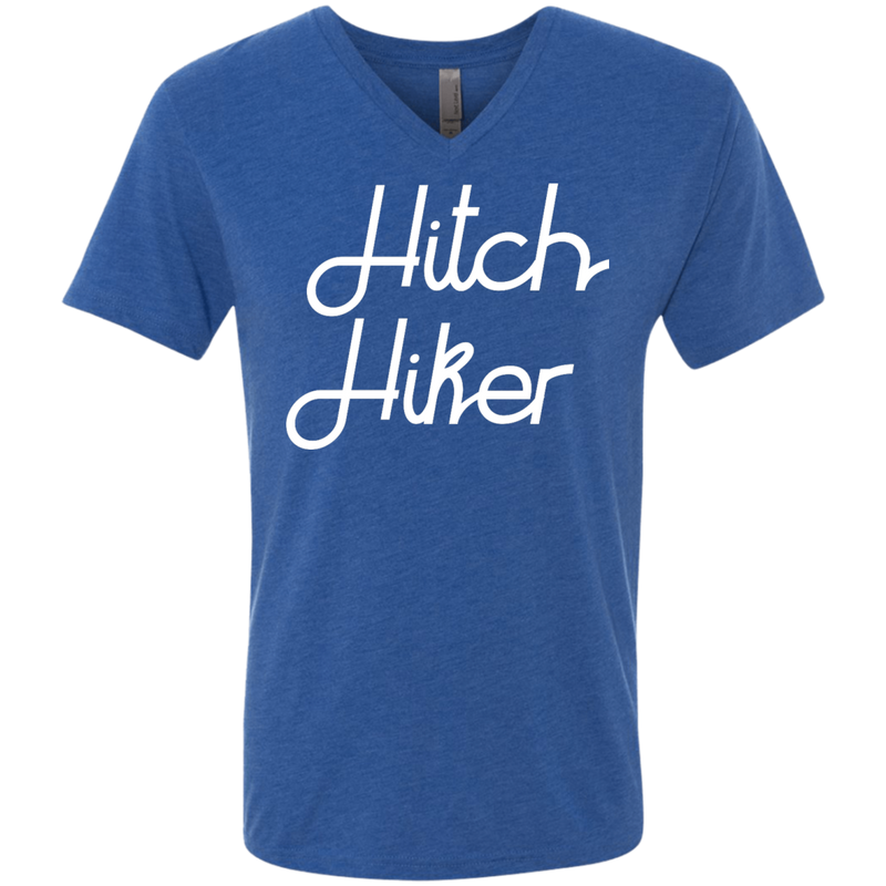 Hitchhiker Men's Travel V-Neck T-Shirt - The Art Of Travel Store: Travel Accessories and Travel T-Shirts