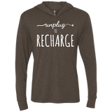Unplug to Recharge Travel Hooded T-Shirt Hoodie - The Art Of Travel Store: Travel Accessories, Travel Clothes, Travel Gear