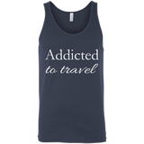 Addicted to Travel Men's Cotton Summer Tank - The Art Of Travel Store: Travel Accessories, Travel Clothes, Travel Gear