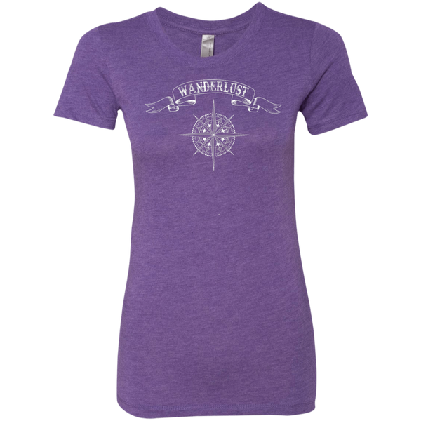 Wanderlust Women's Travel T-Shirt - The Art Of Travel Store: Travel Accessories and Travel T-Shirts