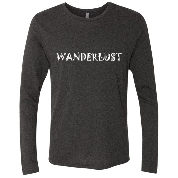 Wanderlust Men's Long Sleeve Traveler Wanderer T-Shirt - The Art Of Travel Store: Travel Accessories, Travel Clothes, Travel Gear