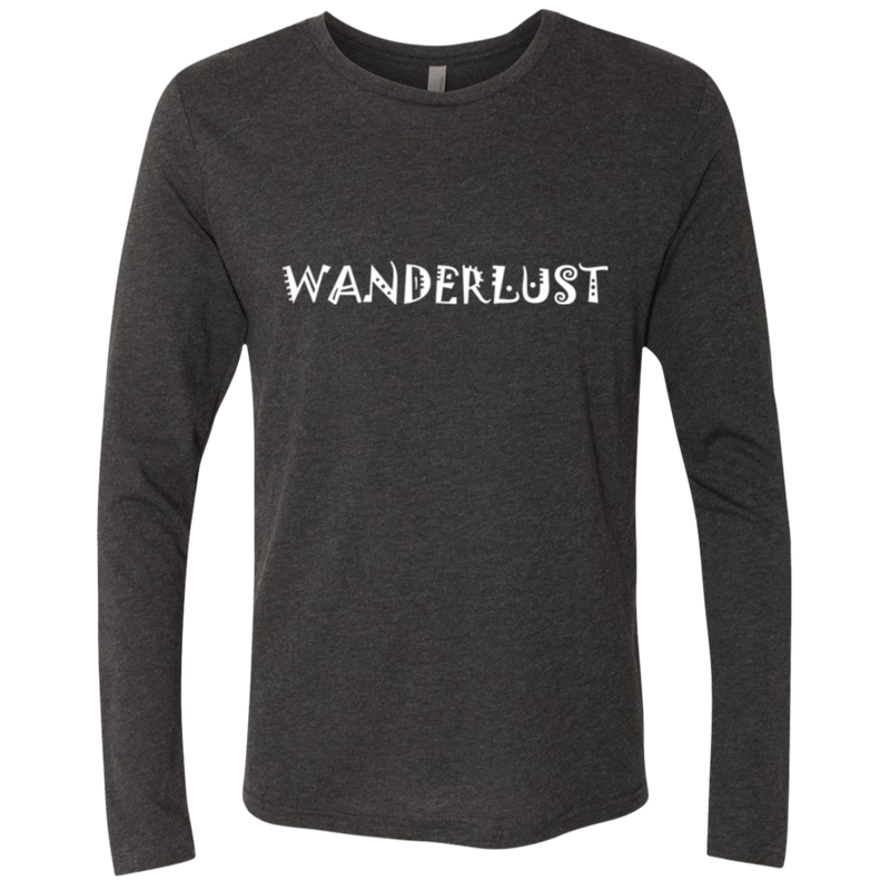 Wanderlust Men's Long Sleeve Traveler Wanderer T-Shirt - The Art Of Travel Store: Travel Accessories and Travel T-Shirts