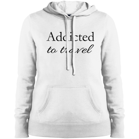 Addicted to Travel Ladies Hooded Pullover Sweatshirt - The Art Of Travel Store: Travel Accessories, Travel Clothes, Travel Gear
