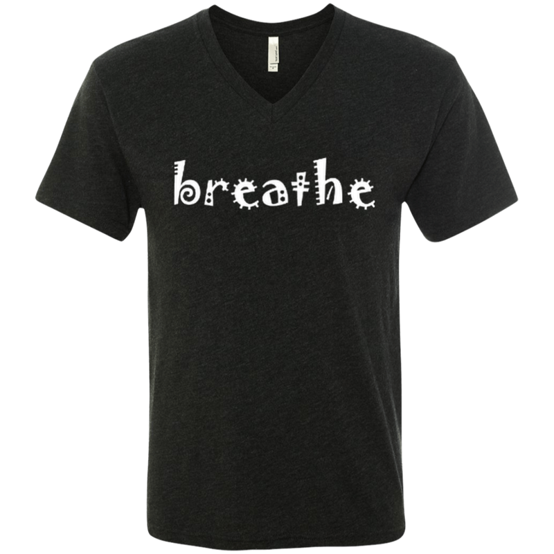 Breathe Relax Wander Men's Travel V-Neck Tee - The Art Of Travel Store: Travel Accessories and Travel T-Shirts