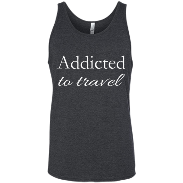 Addicted to Travel Men's Cotton Summer Tank - The Art Of Travel Store: Travel Accessories and Travel T-Shirts