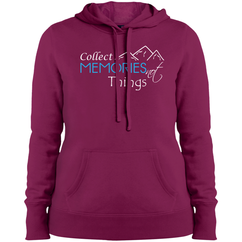Collect Memories Not Things Women Pullover Hooded Sweatshirt - The Art Of Travel Store: Travel Accessories and Travel T-Shirts