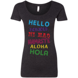 Hello Aloha Women's Travel T-Shirt - The Art Of Travel Store: Travel Accessories, Travel Clothes, Travel Gear