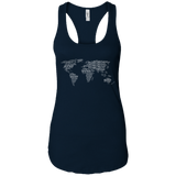 Art of Travel Word Map Ladies Racerback Tank - The Art Of Travel Store: Travel Accessories, Travel Clothes, Travel Gear