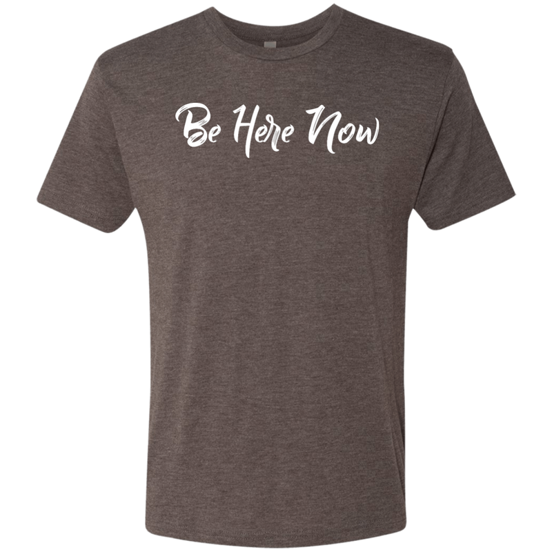 Be Here Now Men's Travel T-Shirt - The Art Of Travel Store: Travel Accessories and Travel T-Shirts
