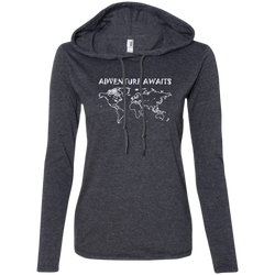 Adventure Awaits Ladies' T-Shirt Hoodie - The Art Of Travel Store: Travel Accessories and Travel T-Shirts