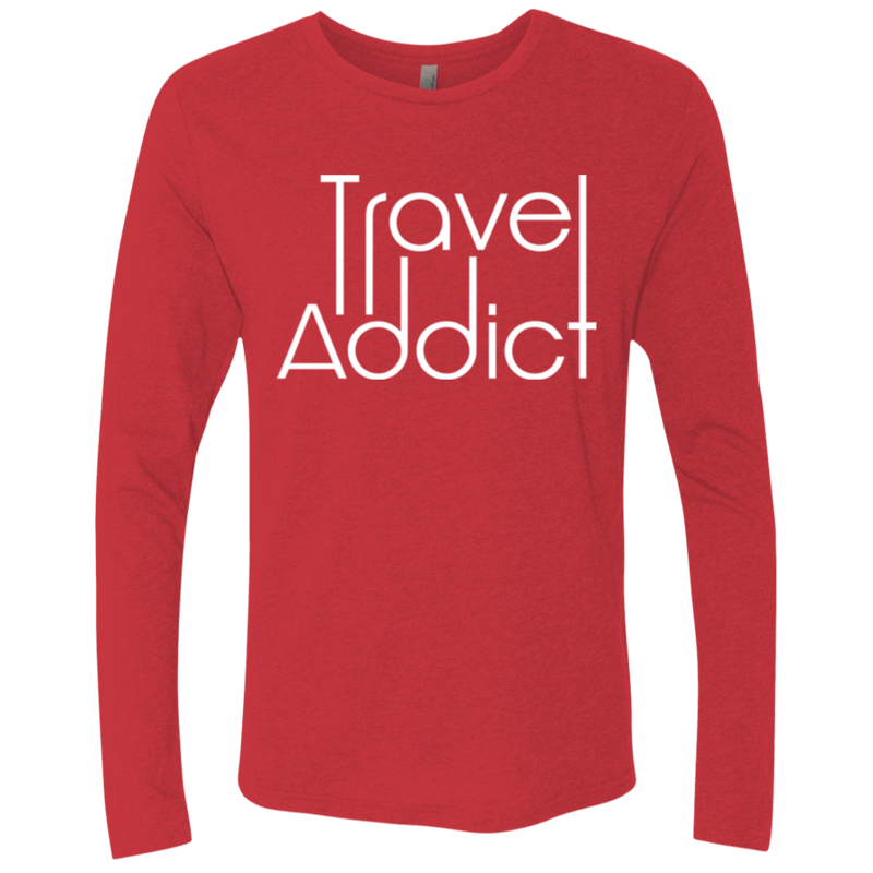 Travel Addict Men's Long Sleeve T-Shirt - The Art Of Travel Store: Travel Accessories and Travel T-Shirts