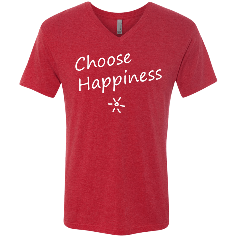 Choose Happiness Men's Travel V-Neck T-Shirt - The Art Of Travel Store: Travel Accessories and Travel T-Shirts