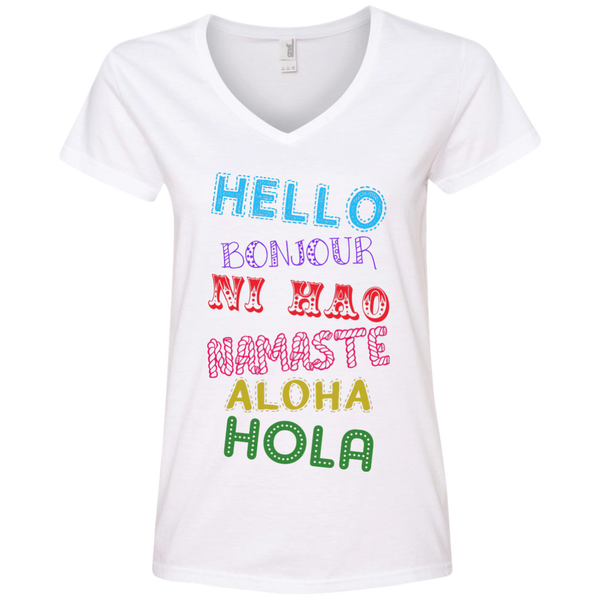 Hello Aloha Women's Travel T-Shirt - The Art Of Travel Store: Travel Accessories, Travel Clothes, Travel T-Shirts