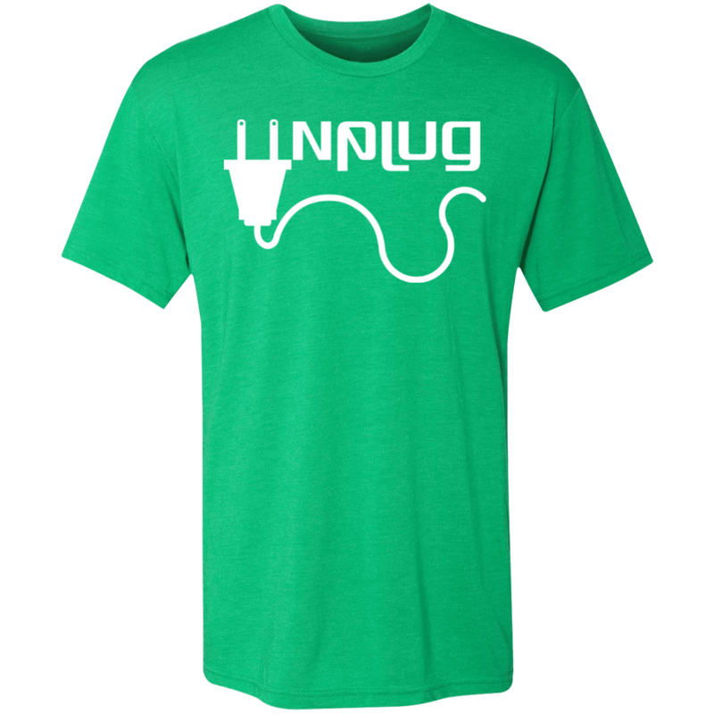 Unplug Men's Triblend T-Shirt - The Art Of Travel Store: Travel Accessories and Travel T-Shirts