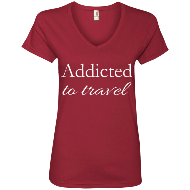 Addicted to Travel Womens T-Shirt - The Art Of Travel Store: Travel Accessories and Travel T-Shirts