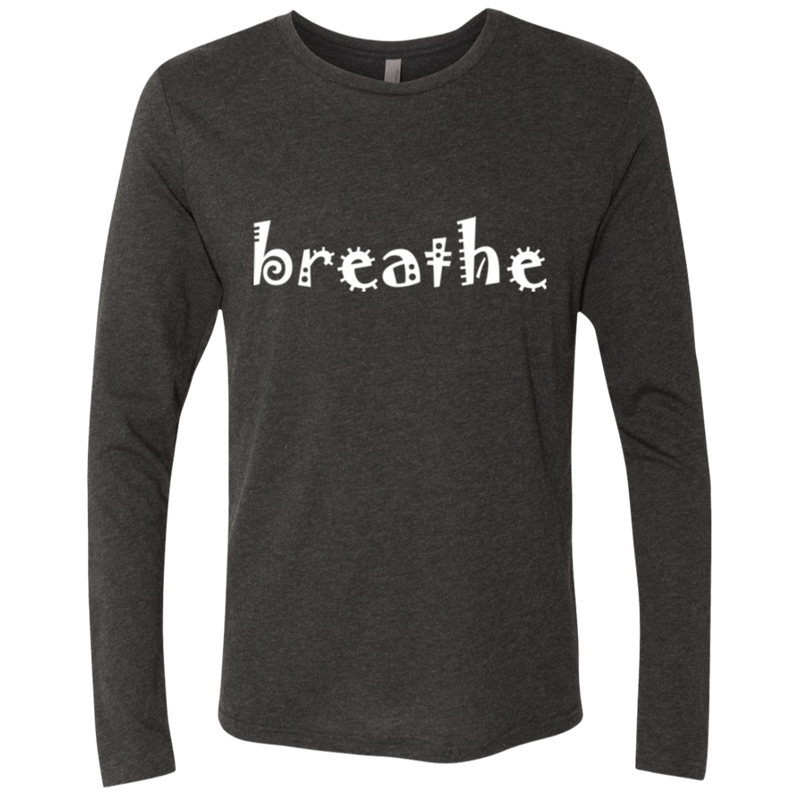 Breathe Life Peace Men's Long Sleeve Travel T-Shirt - The Art Of Travel Store: Travel Accessories and Travel T-Shirts