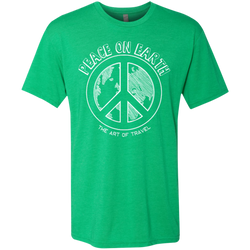 Peace on Earth Men's Travel Triblend Tee - The Art Of Travel Store: Travel Accessories and Travel T-Shirts