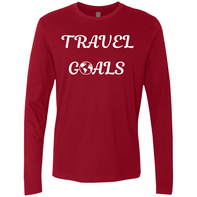 Travel Goals Men's Long Sleeve Nomad T-Shirt - The Art Of Travel Store: Travel Accessories and Travel T-Shirts