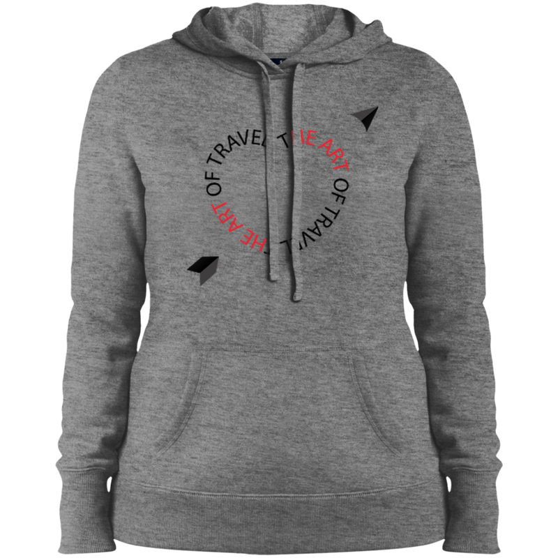 Heart of Travel Ladies Pullover Hooded Sweatshirt - The Art Of Travel Store: Travel Accessories and Travel T-Shirts