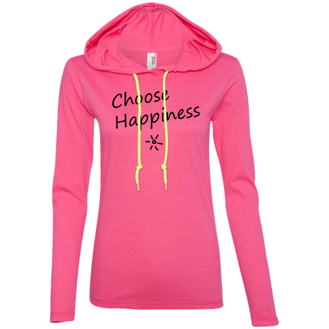 Choose Happiness Ladies T-Shirt Hoodie - The Art Of Travel Store: Travel Accessories, Travel Clothes, Travel Gear