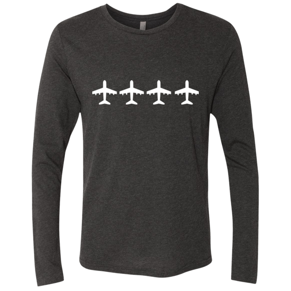 Airplanes Flight Wanderlust Men's Long Sleeve Travel T-Shirt - The Art Of Travel Store: Travel Accessories and Travel T-Shirts