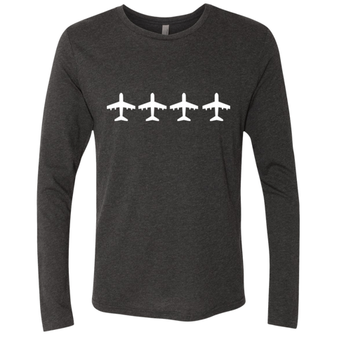 Airplanes Flight Wanderlust Men's Long Sleeve Travel T-Shirt - The Art Of Travel Store: Travel Accessories, Travel Clothes, Travel Gear