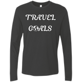 Travel Goals Men's Long Sleeve Nomad T-Shirt - The Art Of Travel Store: Travel Accessories, Travel Clothes, Travel Gear