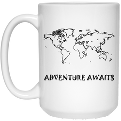 White Mugs 15 oz. - The Art Of Travel Store: Travel Accessories and Travel T-Shirts