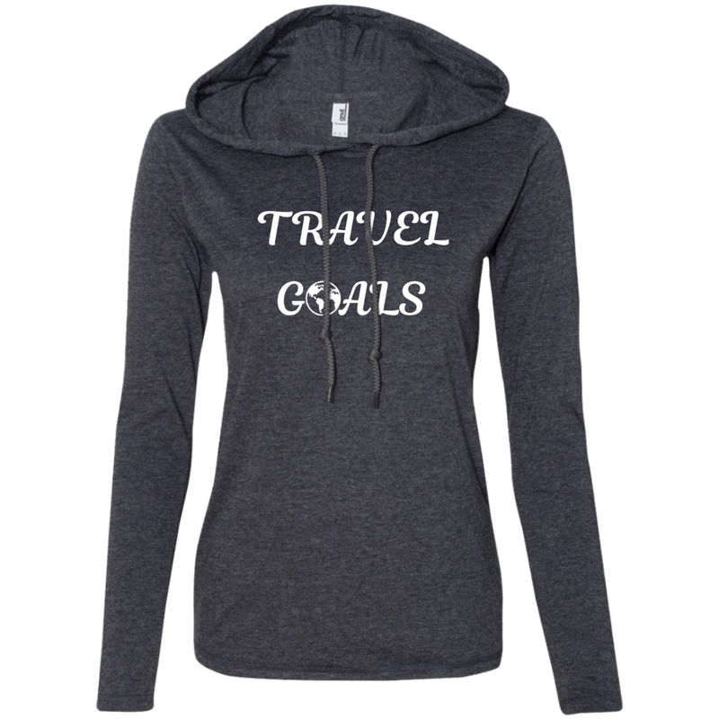 Travel Goals Ladies' T-Shirt Hoodie - The Art Of Travel Store: Travel Accessories and Travel T-Shirts