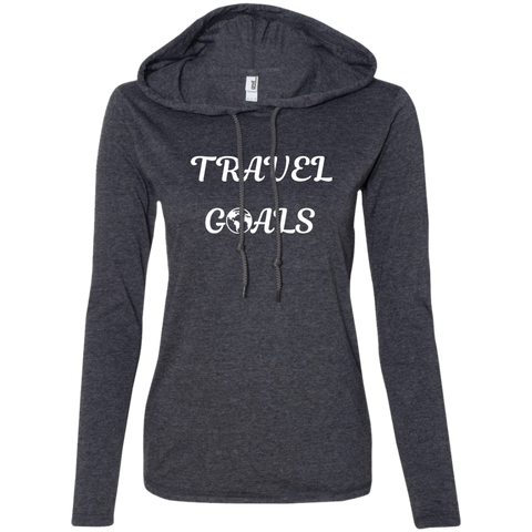 Travel Goals Ladies' T-Shirt Hoodie - The Art Of Travel Store: Travel Accessories, Travel Clothes, Travel Gear