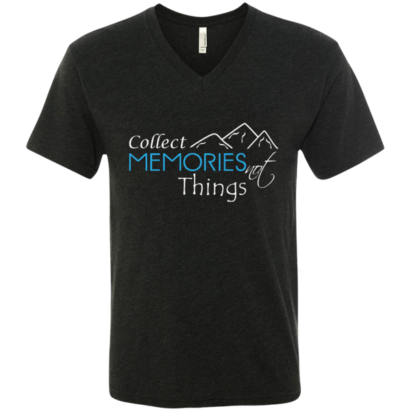 Collect Memories Not Things Men's Travel V-Neck Tee - The Art Of Travel Store: Travel Accessories and Travel T-Shirts