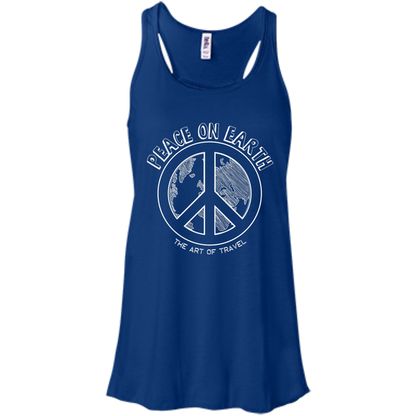 Peace on Earth Women's Racerback Travel Tank - The Art Of Travel Store: Travel Accessories and Travel T-Shirts