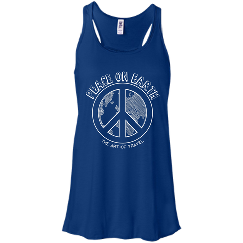 Peace on Earth Women's Racerback Travel Tank - The Art Of Travel Store: Travel Accessories, Travel Clothes, Travel Gear