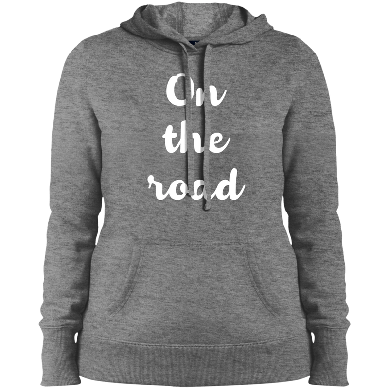 On the Road Ladies Pullover Hooded Sweatshirt - The Art Of Travel