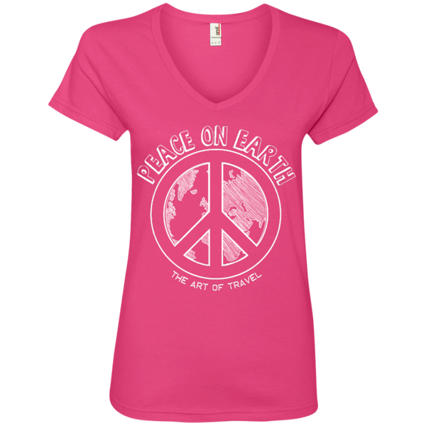 Peace on Earth Womens Travel T-Shirt - The Art Of Travel Store: Travel Accessories, Travel Clothes, Travel T-Shirts