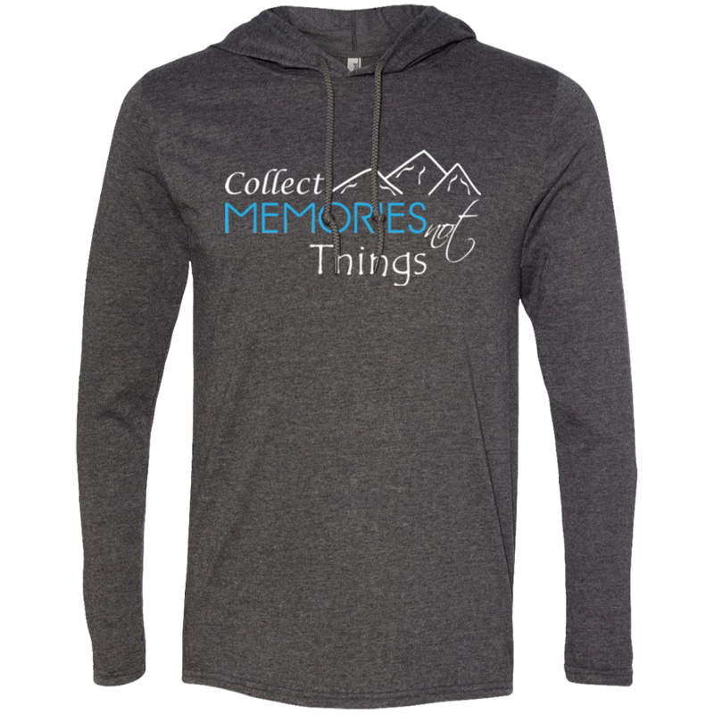 Collect Memories Not Things Men's Travel T-Shirt Hoodie - The Art Of Travel Store: Travel Accessories and Travel T-Shirts