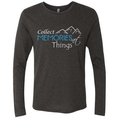 Collect Memories Not Things Men's Long Sleeve T-Shirt - The Art Of Travel Store: Travel Accessories, Travel Clothes, Travel Gear