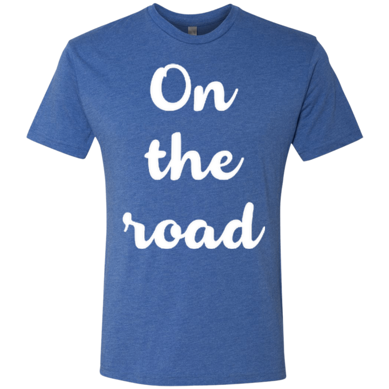 On the Road Men's Travel T-Shirt - The Art Of Travel Store: Travel Accessories and Travel T-Shirts