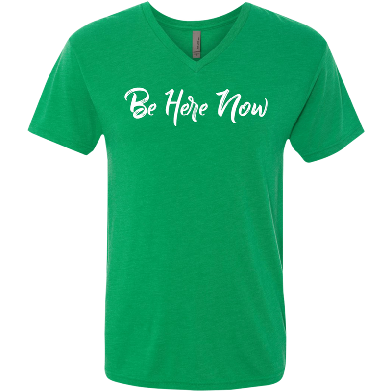 Be Here Now Men's Travel V-Neck T-Shirt - The Art Of Travel Store: Travel Accessories and Travel T-Shirts