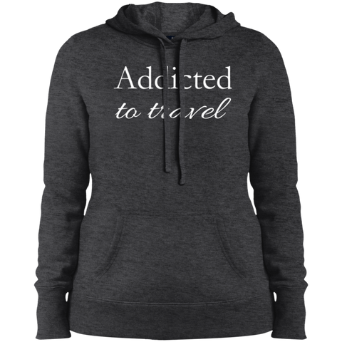 Addicted to Travel Ladies Hooded Sweatshirt - The Art Of Travel Store: Travel Accessories, Travel Clothes, Travel Gear