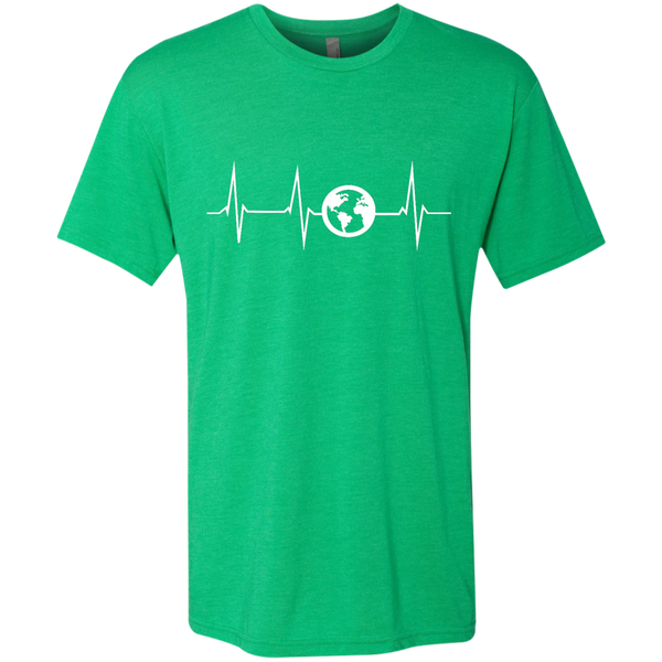 Heartbeat Globe Men's Travel T-Shirt - The Art Of Travel