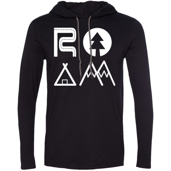 ROAM Wander Men's Travel T-Shirt Hoodie - The Art Of Travel Store: Travel Accessories and Travel T-Shirts